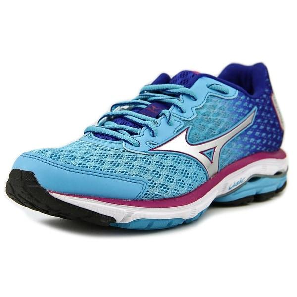 Mizuno Wave Rider 18 Women W Round Toe Synthetic Blue Running Shoe