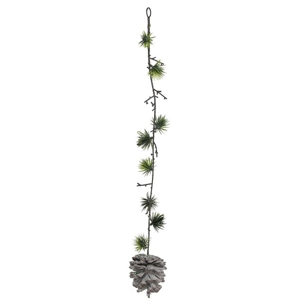 """20"""" Artificial Mini Pine Needle and Pine Cone Hanging Spray"""