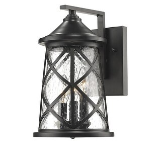 """Millennium Lighting 2502 3-Light 13"""" High Outdoor Wall Sconce with Glass Shade - N/A"""