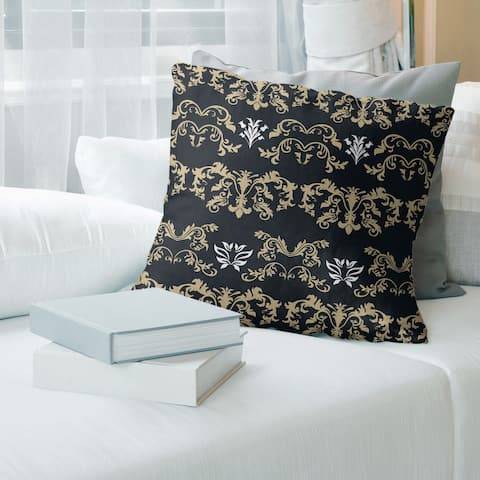 New Orleans Football Baroque Pattern Accent Pillow-Poly Twill