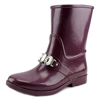 Michael Michael Kors Leslie Rainbootie Women  Synthetic Purple Rain Boot