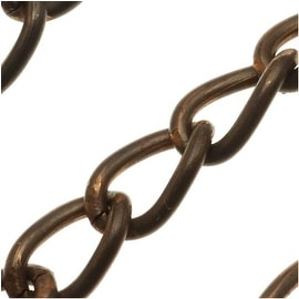 Vintaj Natural Brass 10.5x6.5mm Large Curb Chain - Sold By The Foot