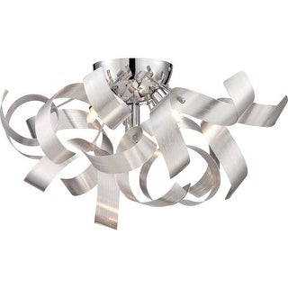 "Platinum RBN1616 Ribbons 4 Light 17"" Wide Flush Mount Ceiling Fixture"