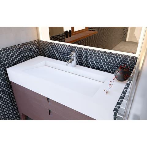 """Pyramid 48"""" Solid Surface Bathroom Vanity Top"""