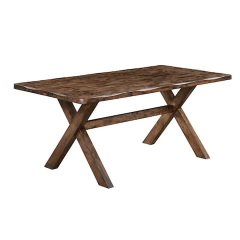 Carbon Loft Horrox Rustic Knotty Nutmeg Solid Wood Dining Table