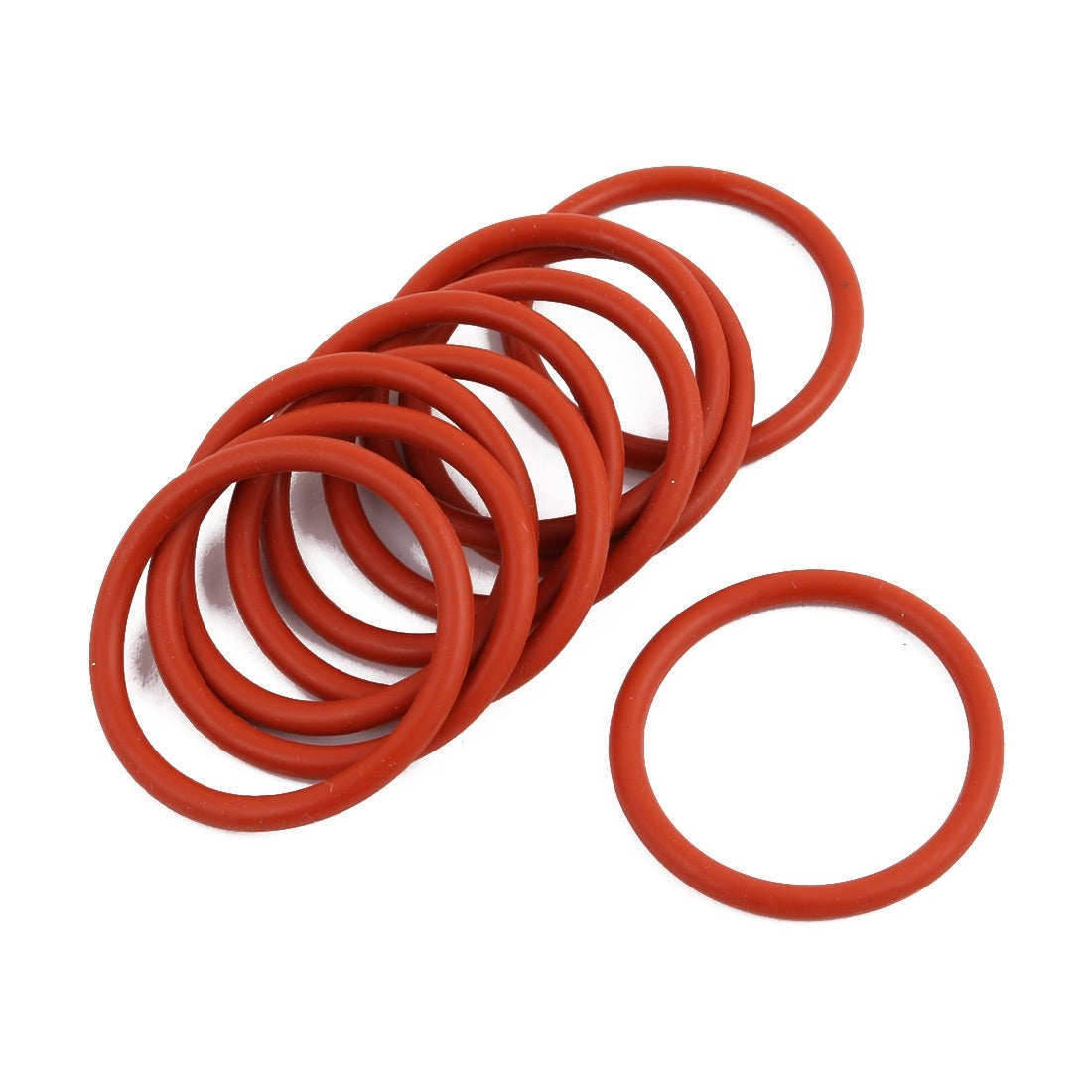 10pcs 40mmx3.5mm O-Ring Pneumatic Air Rubber Hydraulic Tool Red