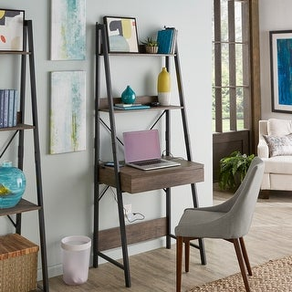 Link to Argis 1-Drawer Ladder Desk with USB Charging Station by iNSPIRE Q Modern Similar Items in Desks & Computer Tables