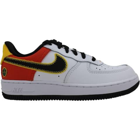 Nike Force 1 LV8 1 White/Black-Orange Flash DD9532-100 Pre-School