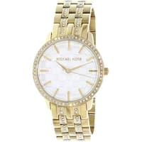 Michael Kors Women's Wren MK3214 Gold Stainless-Steel Quartz Fashion Watch