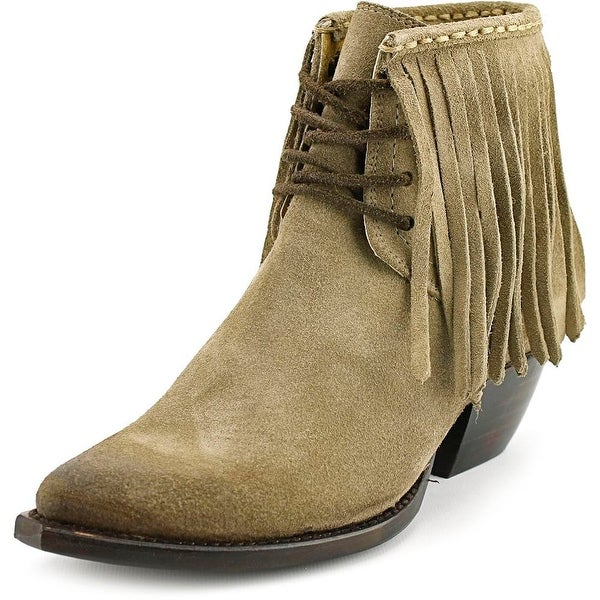 Frye Sacha Fringe Chukka Pointed Toe Suede Bootie