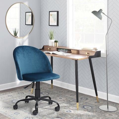 Homylin Velvet Home Office Swivel Chair - N/A