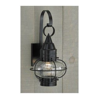 """Norwell Lighting 1513 Classic Onion Single Light 16"""" Tall Outdoor Wall Sconce with Glass Shade"""