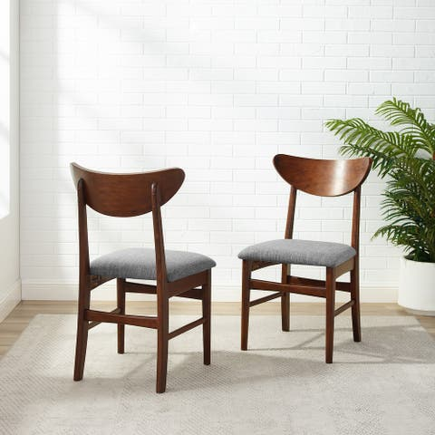 """Landon 2Pc Wood Dining Chairs W/Upholstered Seat - 33.25""""H x19.75""""W x 19.75""""D"""