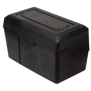 Advantus Plastic Durable Index Card Box, 5 x 8 Inches, Black