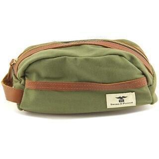Sword & Plough Travel Kit Women Canvas Green Cosmetic Bag