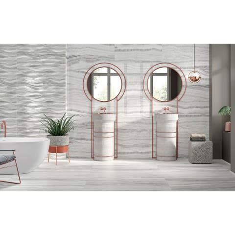 """The Tile Life Chroma Ceramic Tile Collection - 12""""X40"""" case of 5"""