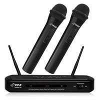 Dual Frequency FM Wireless Microphone Receiver System with