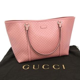 Gucci Women's Pink GG Microguccissima Leather Joy Shopping Tote 449648