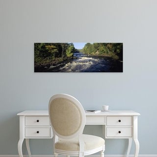 Easy Art Prints Panoramic Images's 'Forest, Menominee River, Baraga County, Upper Peninsula, Michigan' Canvas Art