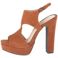 Jessica Simpson Womens Barrow Leather Open Toe Casual Platform Sandals