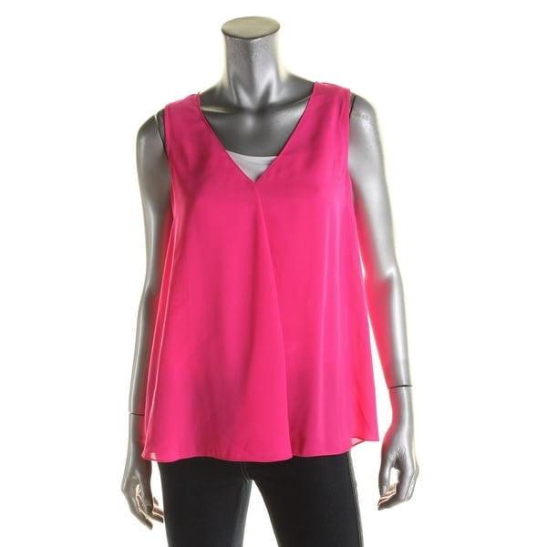 Vince Camuto Womens Tank Top V-Neck Drapey