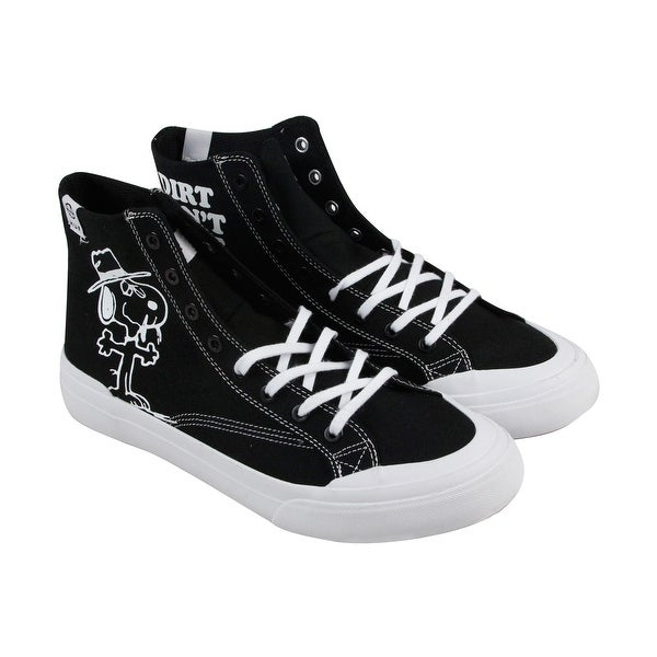 420c162aef HUF Classic Hi Peanuts Mens Black Textile High Top Lace Up Sneakers Shoes