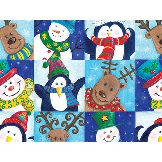 """Pack of 1, Winter Fun 24"""" x 417' Gift Wrap Half Ream Roll for Holiday, Party, Kids' Birthday & Special Occasion Packaging"""