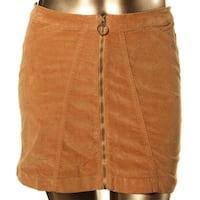 Buffalo David Bitton Womens Mini Skirt Mini Zippered