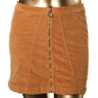 Buffalo David Bitton Womens Mini Skirt Mini Zippered