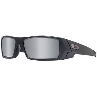 Oakley Gascan 24-435 Matte Black Iridium Sport Wrap Sunglasses - MATTE BLACK - 60mm-15mm-128mm