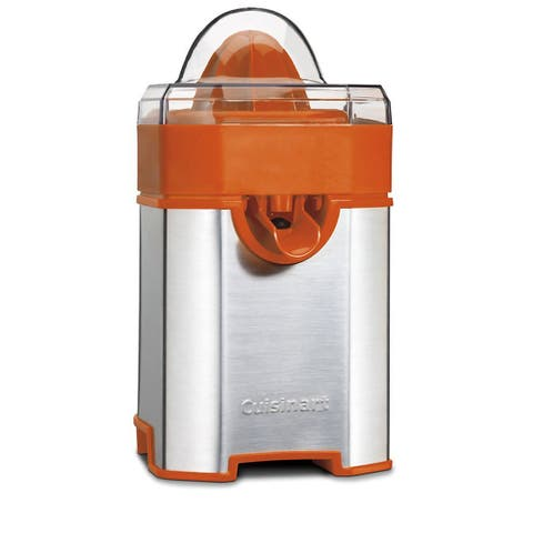 Cuisinart CCJ-500ORFR Pulp Control Citrus Juicer, Silver & Orange, Certified Refurbished