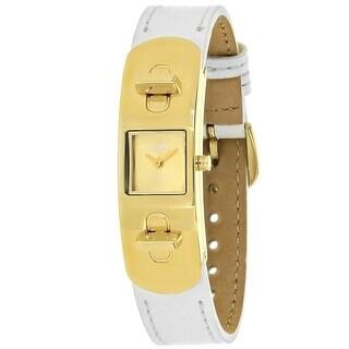 Coach Women's Swagger Gold tone Dial Watch