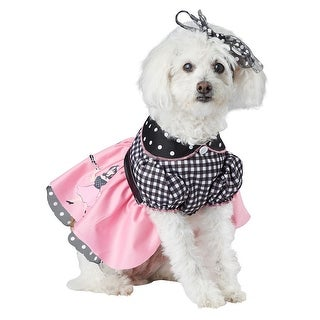 50's Poodle Pooch Halloween Pet Costume