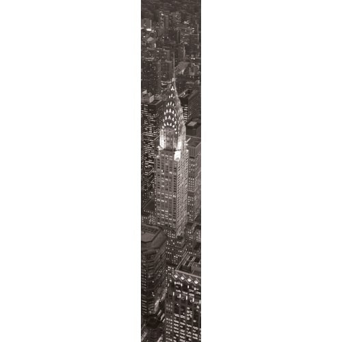 """Brewster DM74524 107"""" x 18-1/2"""" - New York - Self-Adhesive Repositionable Vinyl Wall Decal - Set of 4"""