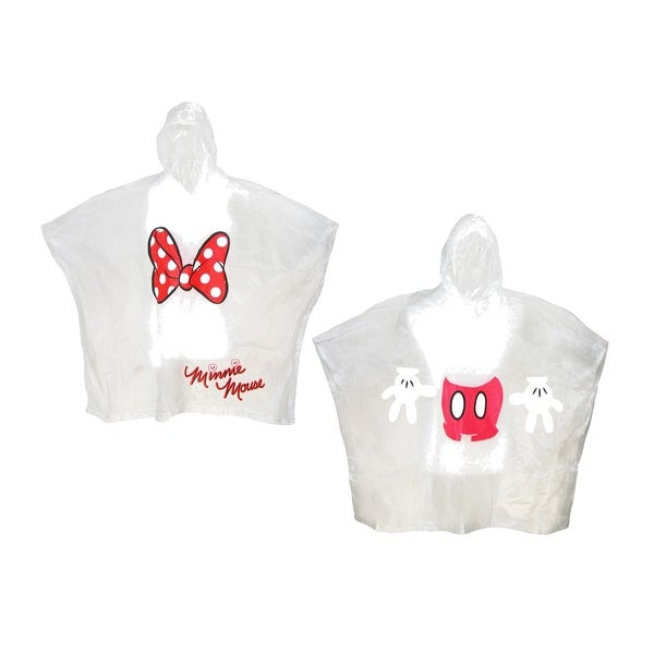 Disney Adult Mickey and Minnie Mouse Poncho Set (Pack of 2) - CLEAR - One size