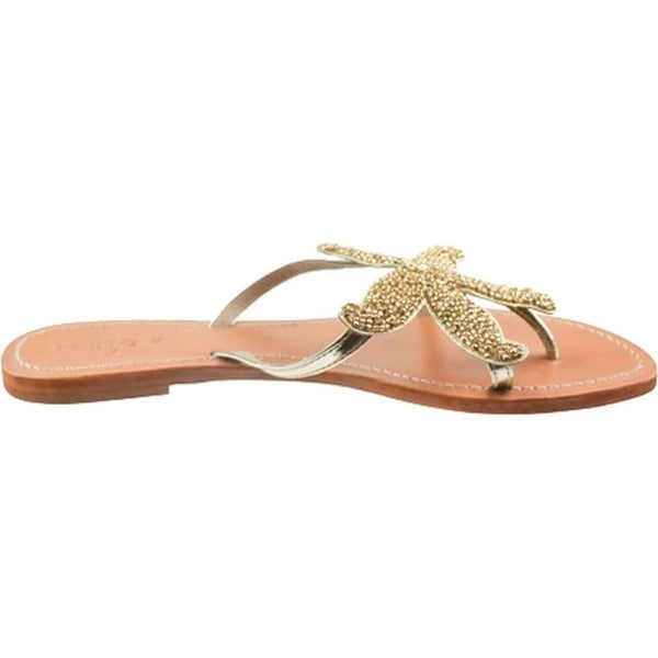 39d5cb5d839 Shop Aspiga Women s Starfish Beaded Sandal Gold Natural Leather - Free  Shipping Today - Overstock - 17733563