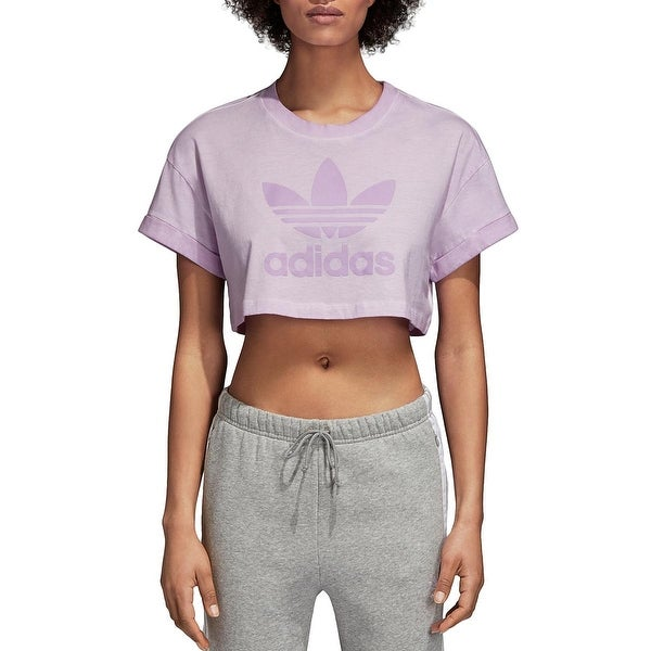 adidas Originals Womens Pullover Top Crop Fitness