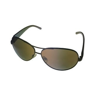 Ellen Tracy Womens Sunglass 515 3 Grey Metal Aviator, Smoke Lens - Medium