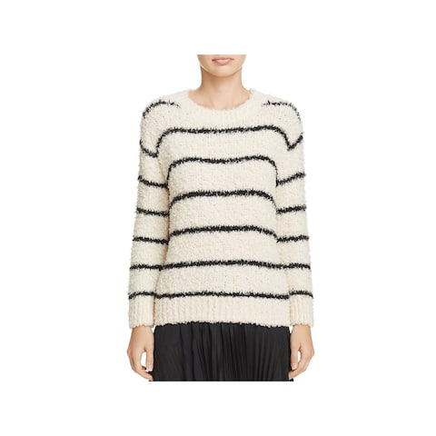 Vince Womens Pullover Sweater Striped Crewneck