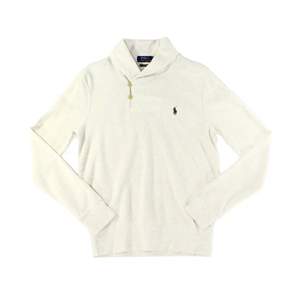 Polo Ralph Lauren NEW Beige Mens Size XL Shawl-Collar Henley Sweater