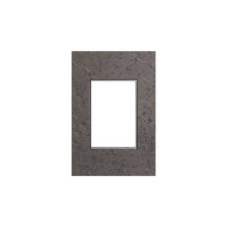 "Legrand AWM1G3HFFE1 adorne Hubbardton Forge Metal 1 Gang Wall Plate - 3.5"" Wide - natural iron"