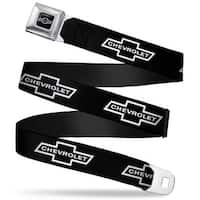 1965 Chevrolet Bowtie Full Color Black White 1965 Chevrolet Bowtie Black Seatbelt Belt