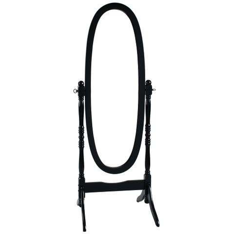 Black Oval Cheval Mirror Freestanding Floor Mirror