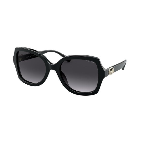 Coach HC8295F 50028G 56 Black Woman Square Sunglasses. Opens flyout.