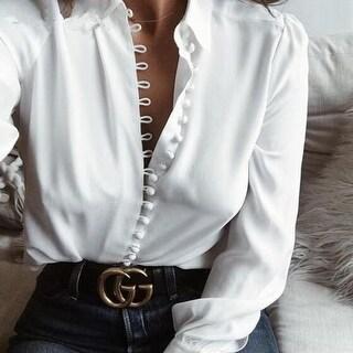 Elegant Long Sleeve Blouse Shirt