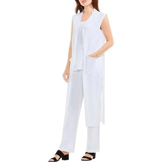 Two by Vince Camuto Womens Vest Linen Side Slit - xL