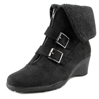 A2 By Aerosoles Music Tor Women  Round Toe Canvas Black Ankle Boot