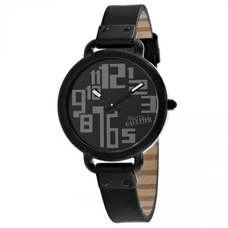 Link to Jean Paul Gaultier Women's 8504304 'Index' Black Stainless Steel Watch Similar Items in Women's Watches
