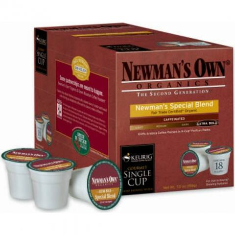 Keurig 00050 Newman's Own Organics Special Blend Extra Bold Coffee K-Cup, 18-Ct