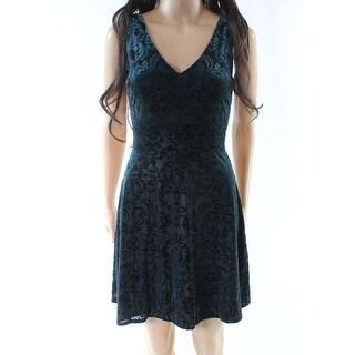 Love...Ady Womens Small Velvet Damask A-Line Dress